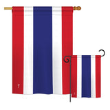Thailand - Nationality Flags of the World Vertical Impressions Decorative Flags HG140231 Printed In USA