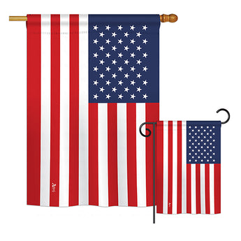 United States - Nationality Flags of the World Vertical Impressions Decorative Flags HG140246 Printed In USA