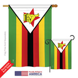 Zimbabwe - Nationality Flags of the World Vertical Impressions Decorative Flags HG140261 Printed In USA