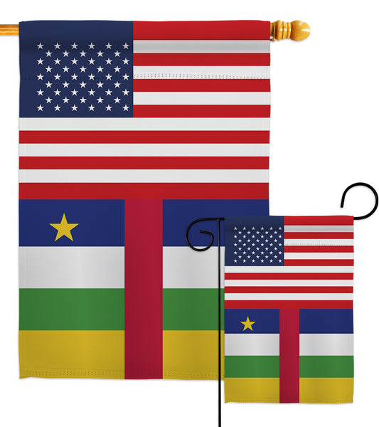 Central African Rep. US Friendship - Nationality Flags of the World Vertical Impressions Decorative Flags HG140333 Made In USA