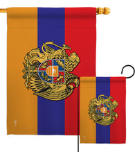 Armenia - Nationality Flags of the World Vertical Impressions Decorative Flags HG140901 Made In USA