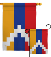 Republic of Artsakh - Nationality Flags of the World Vertical Impressions Decorative Flags HG140902 Made In USA