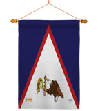 American Samoa - Nationality Flags of the World Vertical Impressions Decorative Flags HG108360 Made In USA