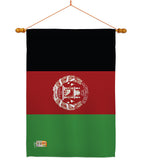 Afghanistan - Nationality Flags of the World Vertical Impressions Decorative Flags HG140002 Made In USA
