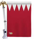 Bahrain - Nationality Flags of the World Vertical Impressions Decorative Flags HG140021 Made In USA