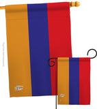 Armenia - Nationality Flags of the World Vertical Impressions Decorative Flags HG140012 Made In USA
