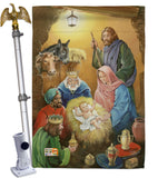 Wise Men - Nativity Winter Vertical Impressions Decorative Flags HG114103 Made In USA