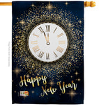 Countdown New Year - New Year Winter Vertical Impressions Decorative Flags HG116011 Made In USA