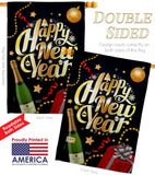Best New Year - New Year Winter Vertical Impressions Decorative Flags HG137130 Made In USA