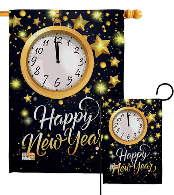 New Year Countdown - New Year Winter Vertical Impressions Decorative Flags HG192142 Made In USA