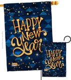 Delight New Year - New Year Winter Vertical Impressions Decorative Flags HG137102 Made In USA