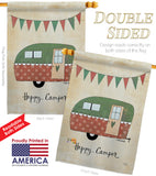 Camper - Outdoor Nature Vertical Impressions Decorative Flags HG109046 Made In USA