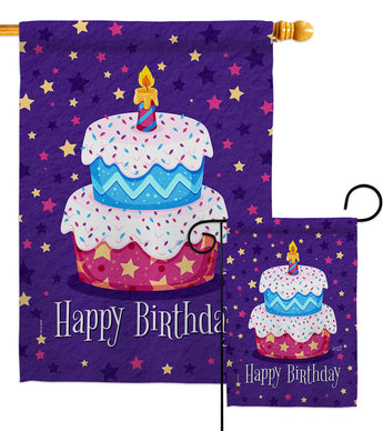 Celerate Birthday - Party & Celebration Special Occasion Vertical Impressions Decorative Flags HG137417 Made In USA