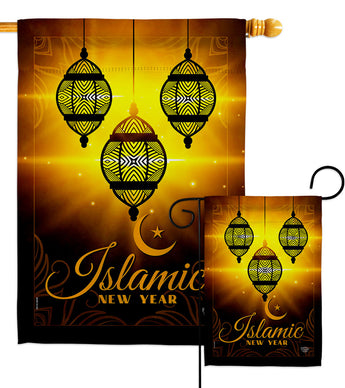 Islamic New Year - Party & Celebration Special Occasion Vertical Impressions Decorative Flags HG192587 Made In USA