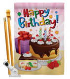 Happy Birthday - Party & Celebration Special Occasion Vertical Impressions Decorative Flags HG115073 Made In USA