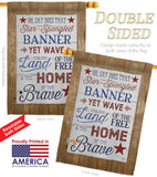 Star Spangled Pride - Patriotic Americana Vertical Impressions Decorative Flags HG111086 Made In USA