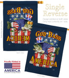 God Bass America - Patriotic Americana Vertical Impressions Decorative Flags HG111087 Made In USA