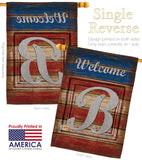 Patriotic B Initial - Patriotic Americana Vertical Impressions Decorative Flags HG130106 Made In USA