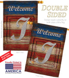 Patriotic I Initial - Patriotic Americana Vertical Impressions Decorative Flags HG130113 Made In USA