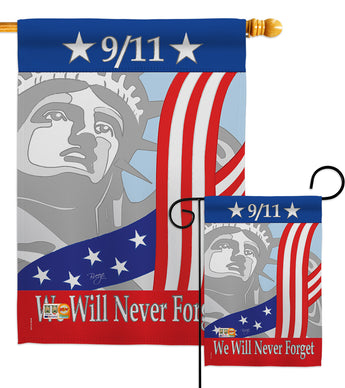 September 11th - Patriotic Americana Vertical Impressions Decorative Flags HG111060 Made In USA