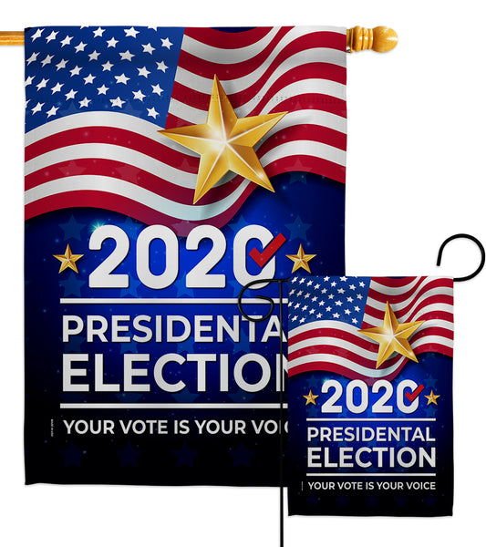 2020 Election - Patriotic Americana Vertical Impressions Decorative Flags HG170125 Made In USA
