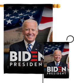Biden President 2020 - Patriotic Americana Vertical Impressions Decorative Flags HG170136 Made In USA