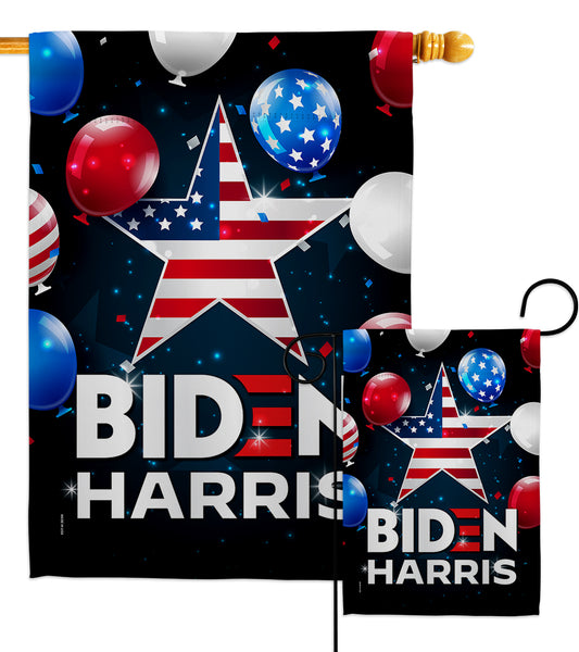 Biden Harris - Patriotic Americana Vertical Impressions Decorative Flags HG170143 Made In USA