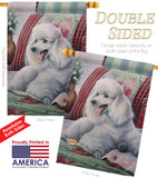 Poodle - Pets Nature Vertical Impressions Decorative Flags HG110093 Made In USA