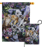 Purfect Gardening Buddies - Pets Nature Vertical Impressions Decorative Flags HG110047 Made In USA