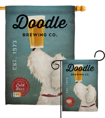 Doodle Brewing - Pets Nature Vertical Impressions Decorative Flags HG110112 Made In USA
