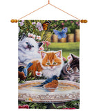 Splashing Up Some Fun - Pets Nature Vertical Impressions Decorative Flags HG110071 Made In USA