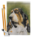 Basset Hound - Pets Nature Vertical Impressions Decorative Flags HG110090 Made In USA