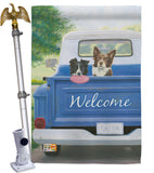 Play Day with Buddy - Pets Nature Vertical Impressions Decorative Flags HG110126 Made In USA