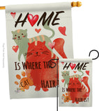 Furry Cat - Pets Nature Vertical Impressions Decorative Flags HG110078 Made In USA