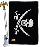Jack Rackham's - Pirate Coastal Vertical Impressions Decorative Flags HG140412 Made In USA