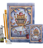 Owl Live Laugh Learn - School & Education Special Occasion Vertical Impressions Decorative Flags HG115107 Made In USA