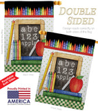 School Chalk Board - School & Education Special Occasion Vertical Impressions Decorative Flags HG115116 Made In USA
