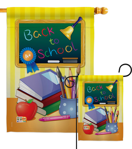 Back to School - School & Education Special Occasion Vertical Impressions Decorative Flags HG115074 Imported