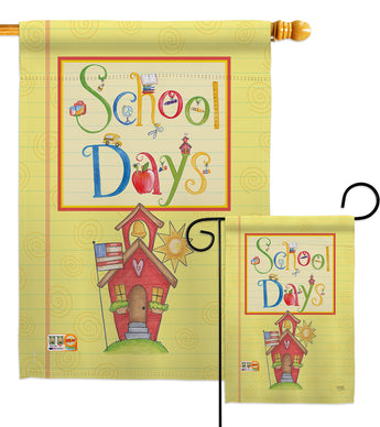 School Days - School & Education Special Occasion Vertical Impressions Decorative Flags HG115105 Made In USA