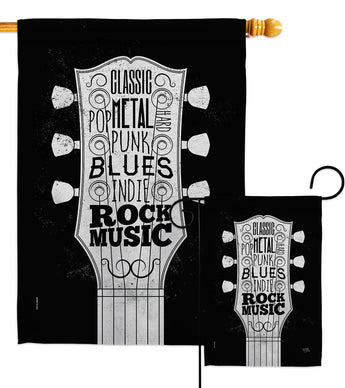 Rock Music - School & Education Special Occasion Vertical Impressions Decorative Flags HG115212 Made In USA
