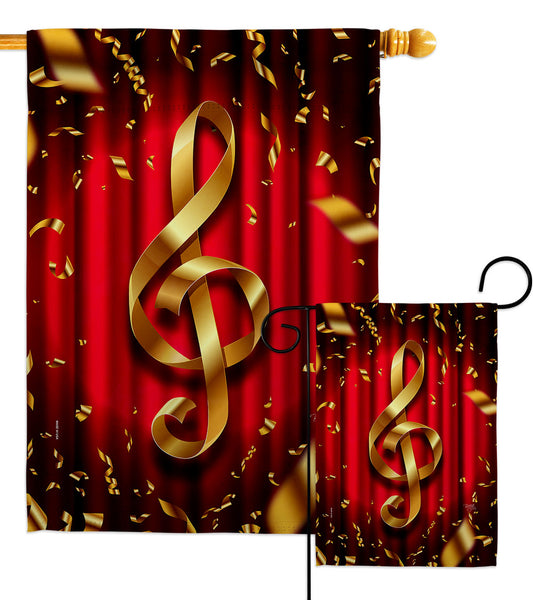 Clef - School & Education Special Occasion Vertical Impressions Decorative Flags HG115244 Made In USA