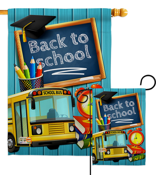 Welcome Back to School - School & Education Special Occasion Vertical Impressions Decorative Flags HG137158 Made In USA