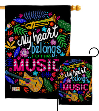 Belongs to Music - School & Education Special Occasion Vertical Impressions Decorative Flags HG137195 Made In USA