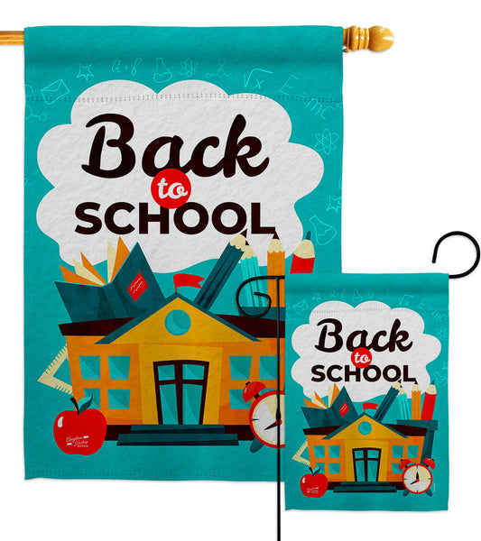 Ready for School - School & Education Special Occasion Vertical Impressions Decorative Flags HG137452 Made In USA