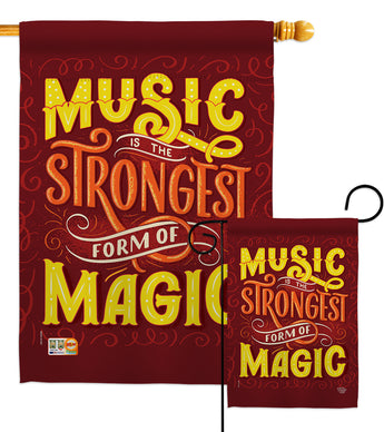 Music Strong - School & Education Special Occasion Vertical Impressions Decorative Flags HG192195 Made In USA