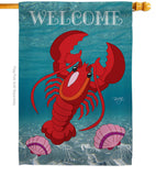 Lobster - Sea Animals Coastal Vertical Impressions Decorative Flags HG107026 Made In USA