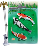 Koi - Sea Animals Coastal Vertical Impressions Decorative Flags HG107002 Made In USA