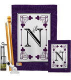 Classic N Initial - Simply Beauty Interests Vertical Impressions Decorative Flags HG130014 Made In USA