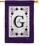Classic G Initial - Simply Beauty Interests Vertical Impressions Decorative Flags HG130007 Made In USA