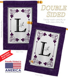 Classic L Initial - Simply Beauty Interests Vertical Impressions Decorative Flags HG130012 Made In USA